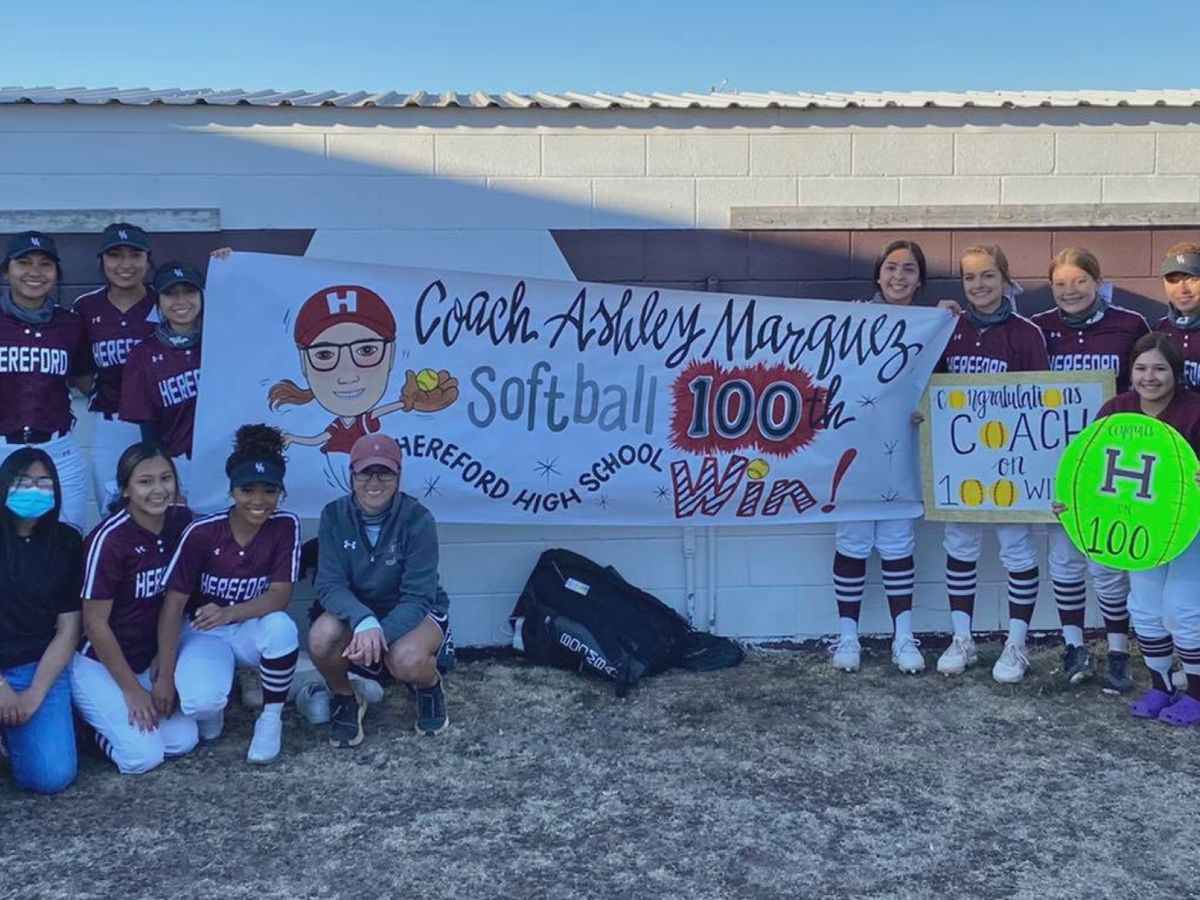 Hereford Head Coach Ashley Marquez earns 100th career win, becoming the first in school history