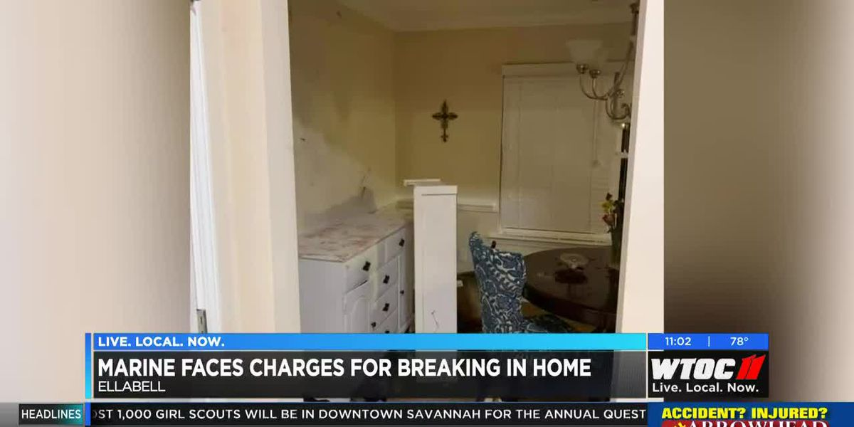 Marine faces charges after breaking into home, family terrified by horrific scene