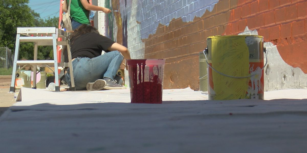 Local art students start Blank Spaces Mural Project to revitalize community
