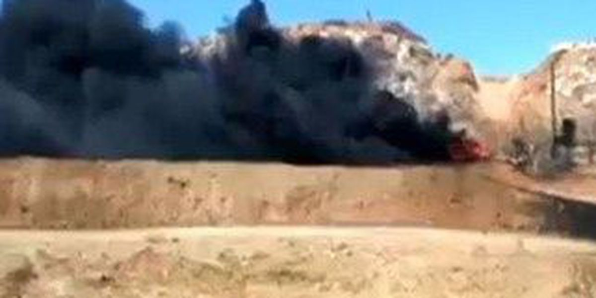 Tank fire extinguished east of Borger