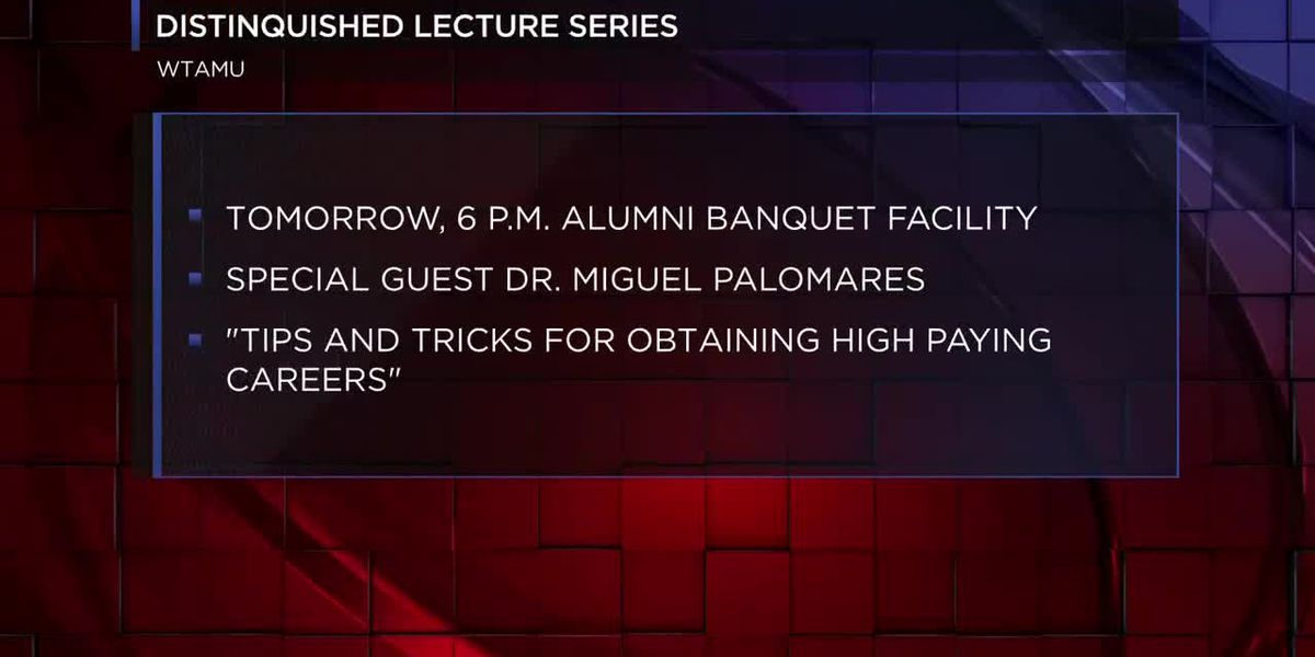 WTAMU Distinguished Lecture Series hopes to improve well-being, engagement of students