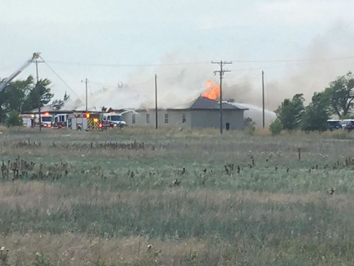 Crews responding to fire in vacant dorm building at Amarillo College