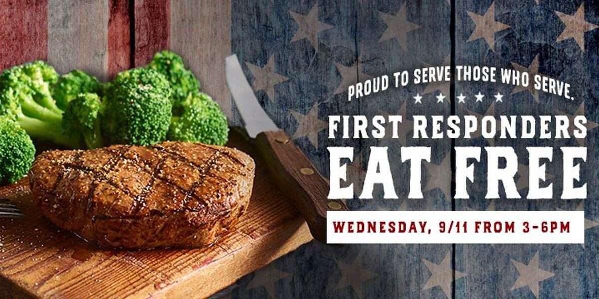 Logan's Roadhouse offering free meals for first responders in remembrance of 9/11