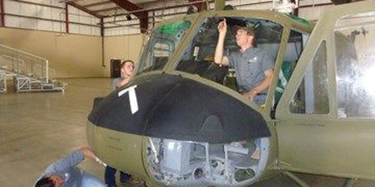 Historic Huey Helicopter restored
