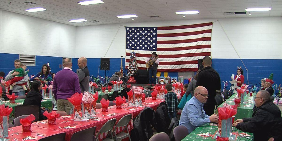 Dozens celebrate at military Christmas party
