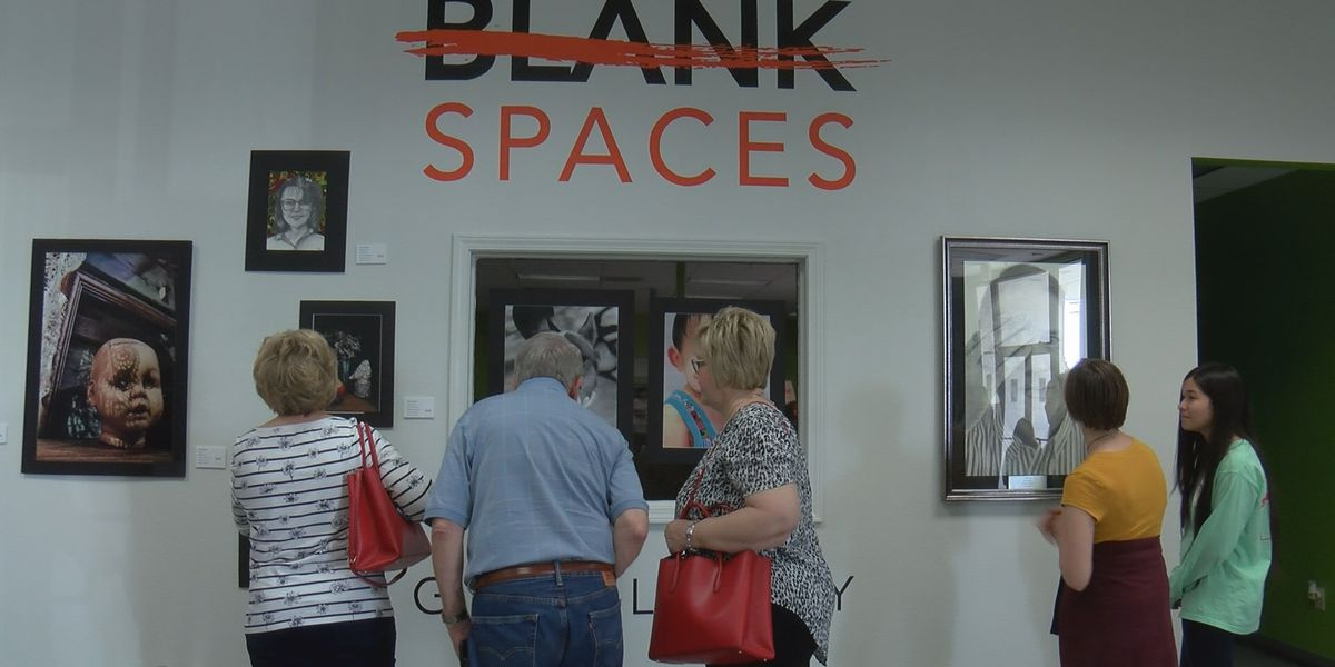 Blank Spaces Gallery showcases high school students' artwork at Snack Pak 4 Kids warehouse