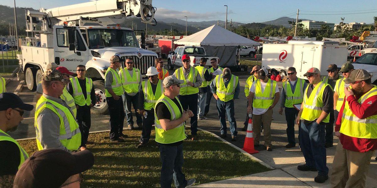 Xcel Energy workers restore power to over 70 Puerto Ricans