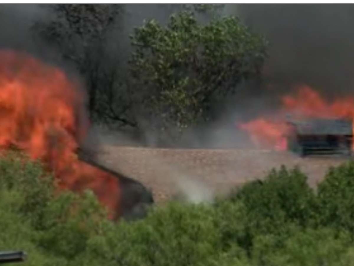Crews battle house fire in Fritch Monday afternoon