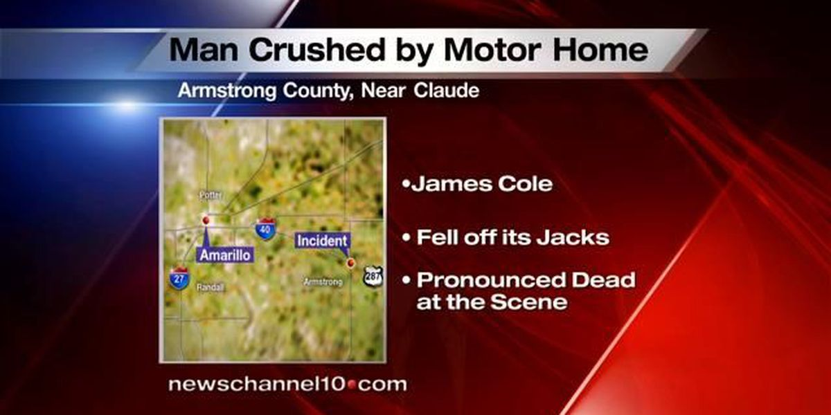 Man crushed by mobile home