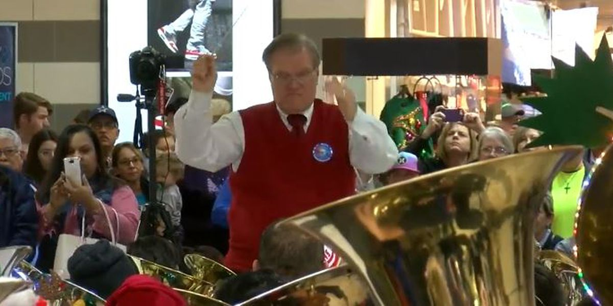 Area tuba players take Christmas carols to another level