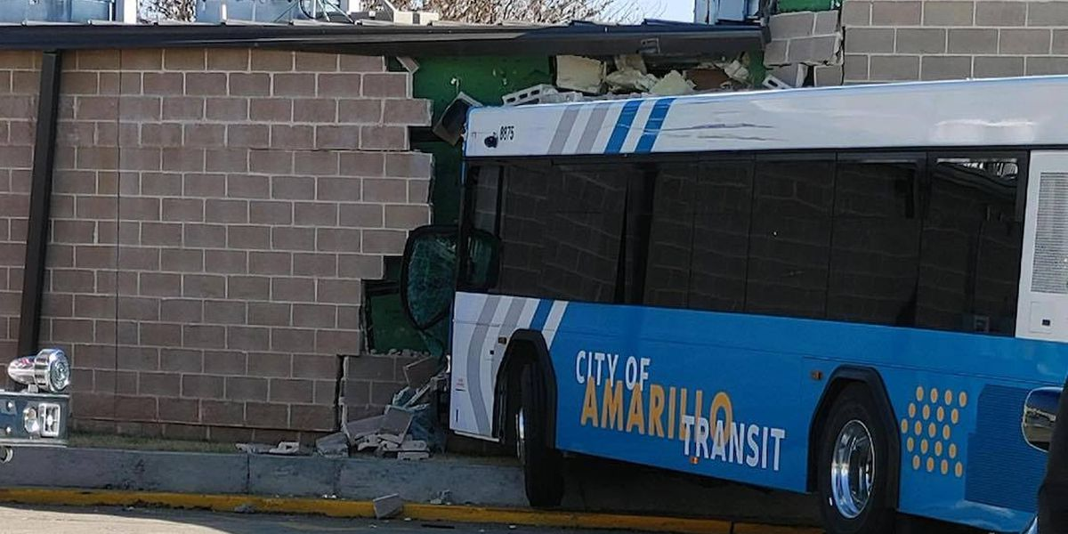 2 injured after crash involving SUV and City of Amarillo bus this morning