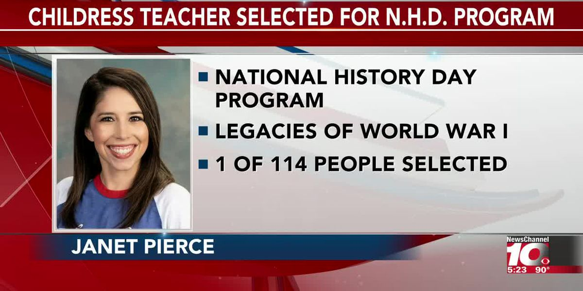 Video - Childress Teacher Selected For NHD program