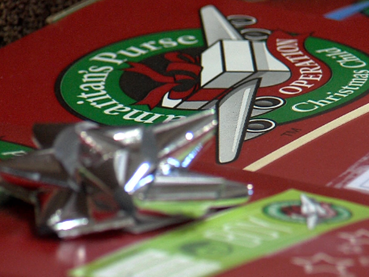 Operation Christmas Child accepting gift-filled shoeboxes through Monday