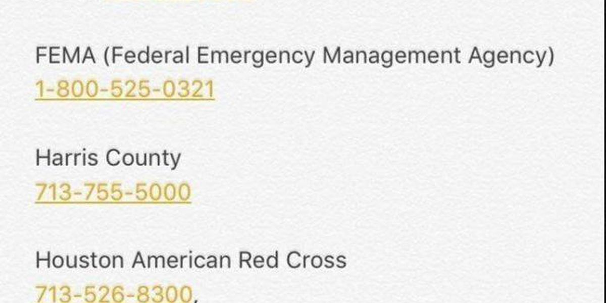 Numbers to call in Houston emergencies