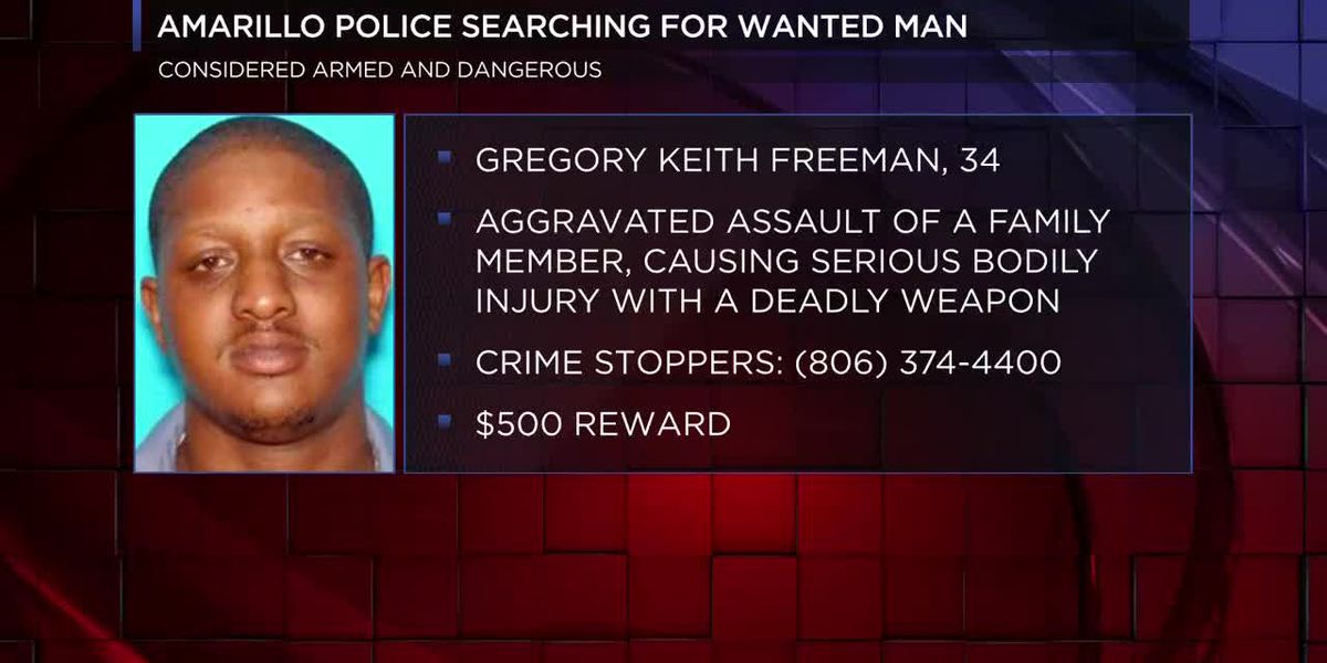 Amarillo police searching for armed and dangerous fugitive