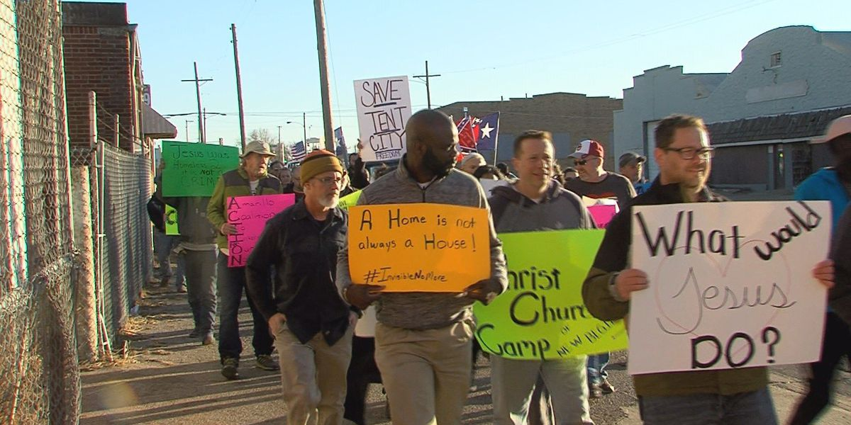 Local residents, homeless continue to march for Christ Church Camp