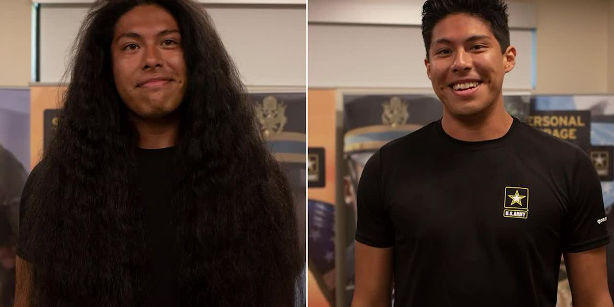 Army enlistee gets first haircut in 15 years