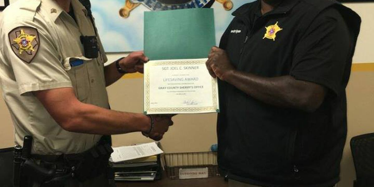Gray County Sergeant's heroic actions recognized
