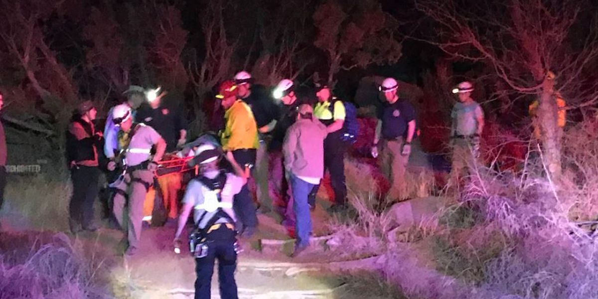'It takes a team': Multiple agencies rescue injured hiker in Palo Duro Canyon