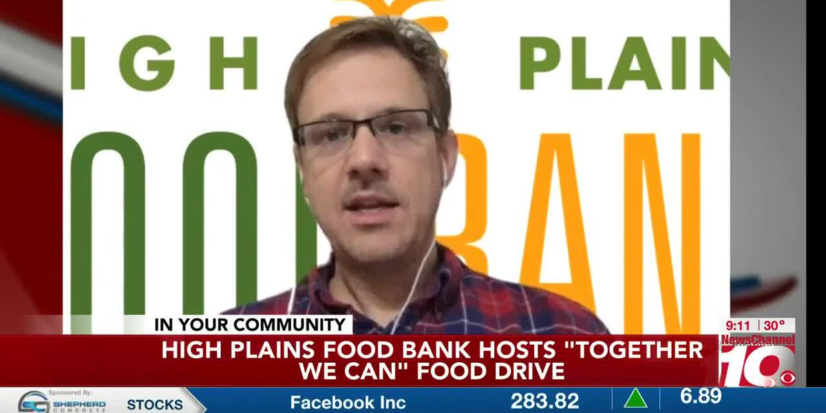 Zack Wilson with High Plains Food Bank on Together We Can food drive