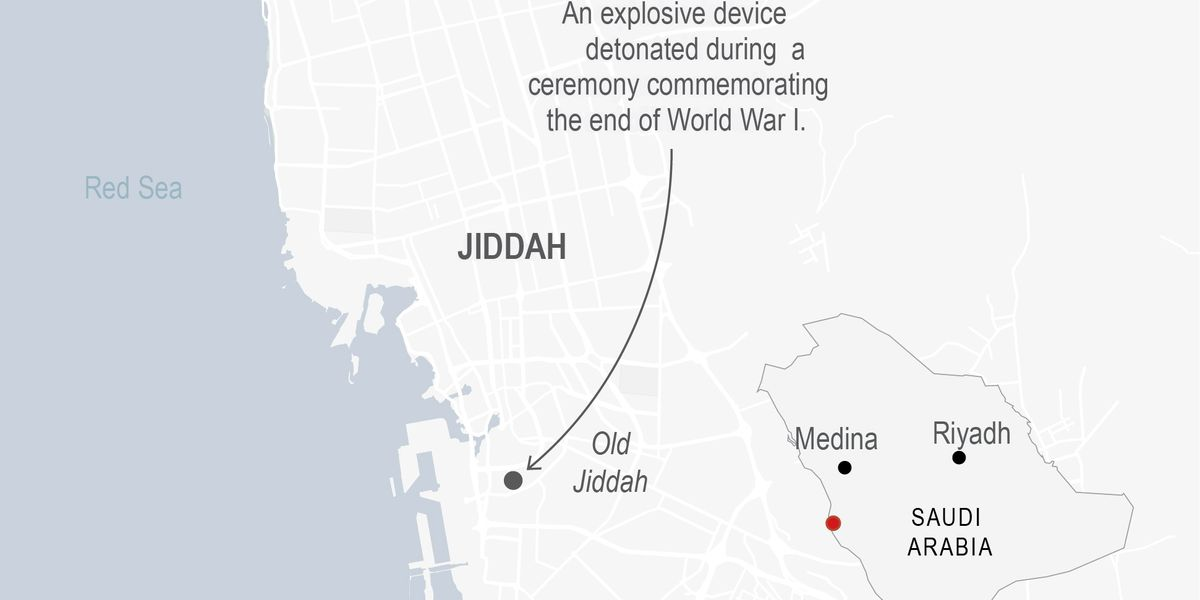 Officials: Blast at WWI ceremony in Saudi Arabia wounds 3