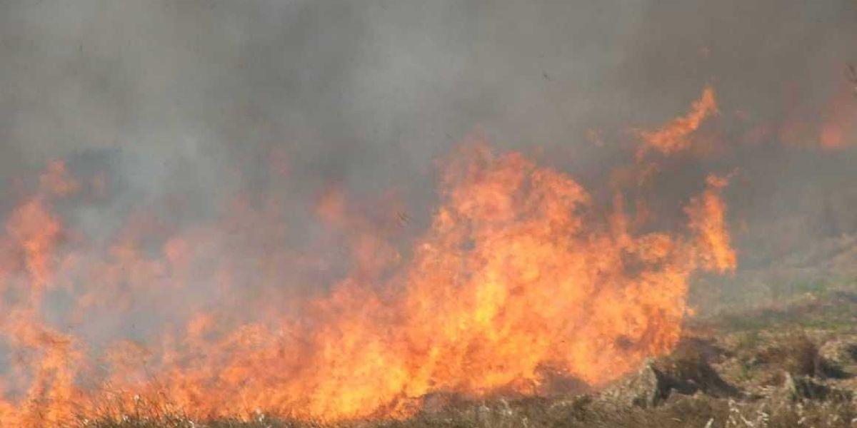 Incendio al norte de Stinnett