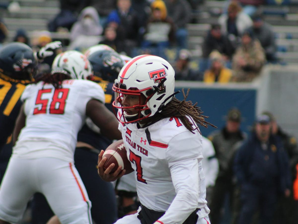 Red Raiders roll on the road at West Virginia, 38-17