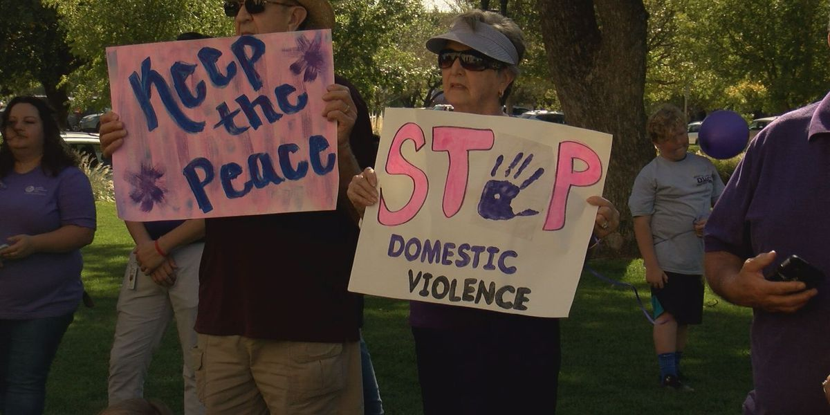 Family Support Services hosts Domestic Violence Awareness Walk in downtown Amarillo