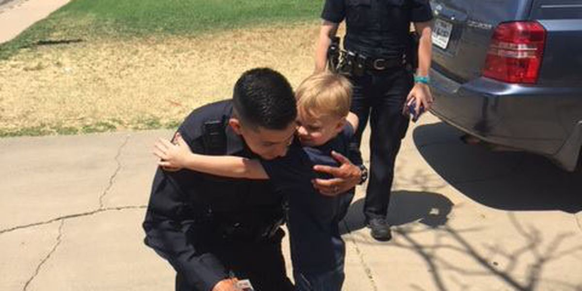6-year-old's birthday wish comes true after surprise from Amarillo police officers