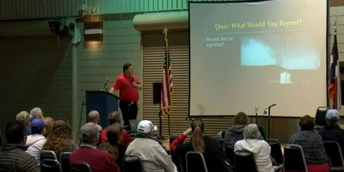 Weather enthusiasts attend the Severe Weather Expo
