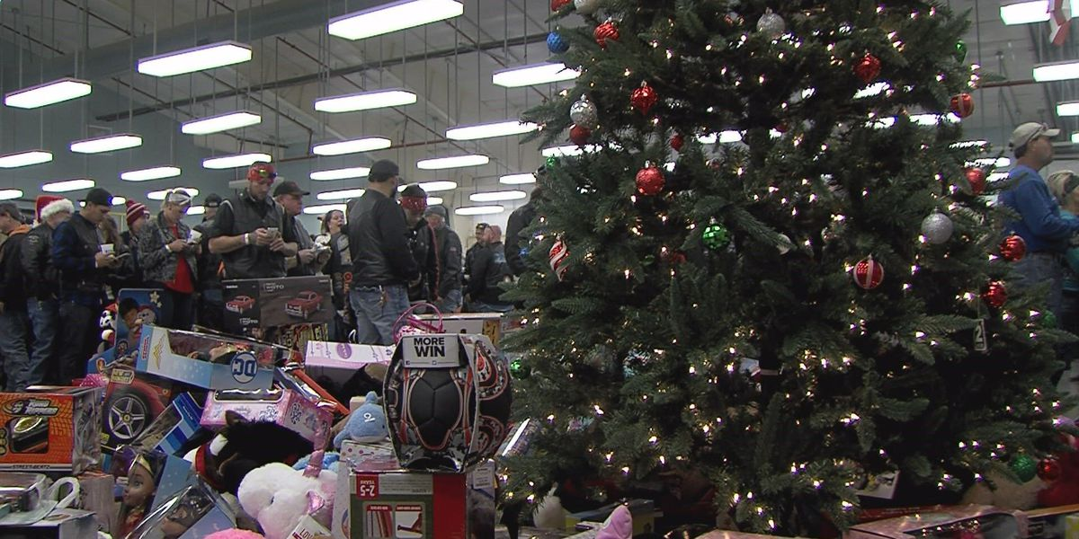 Bikers give to toy drive for underprivileged kids