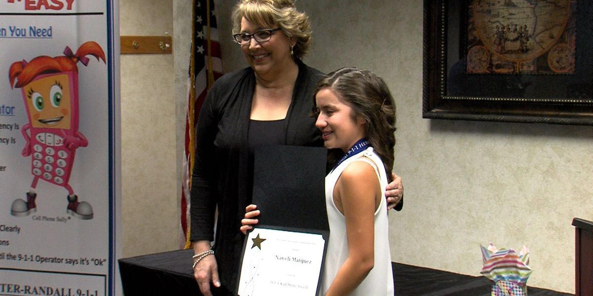 Local girl and 9-1-1 operator honored for bravery and heroism