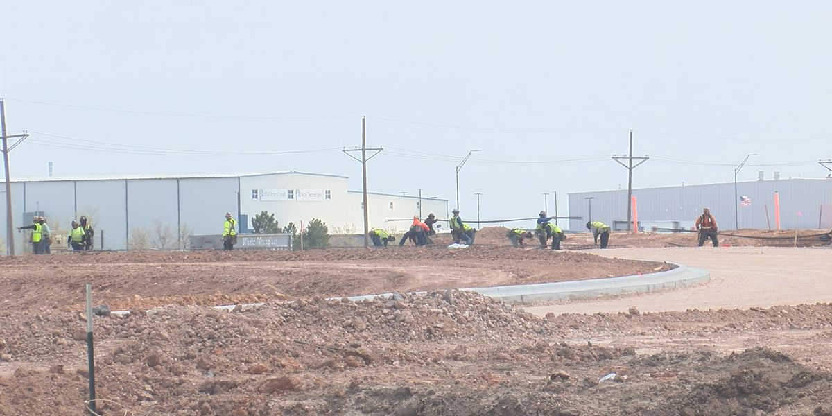 Amarillo Amazon warehouse construction on schedule, foundation being poured