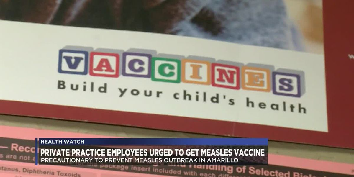Private health practice employees urged to get measles vaccines