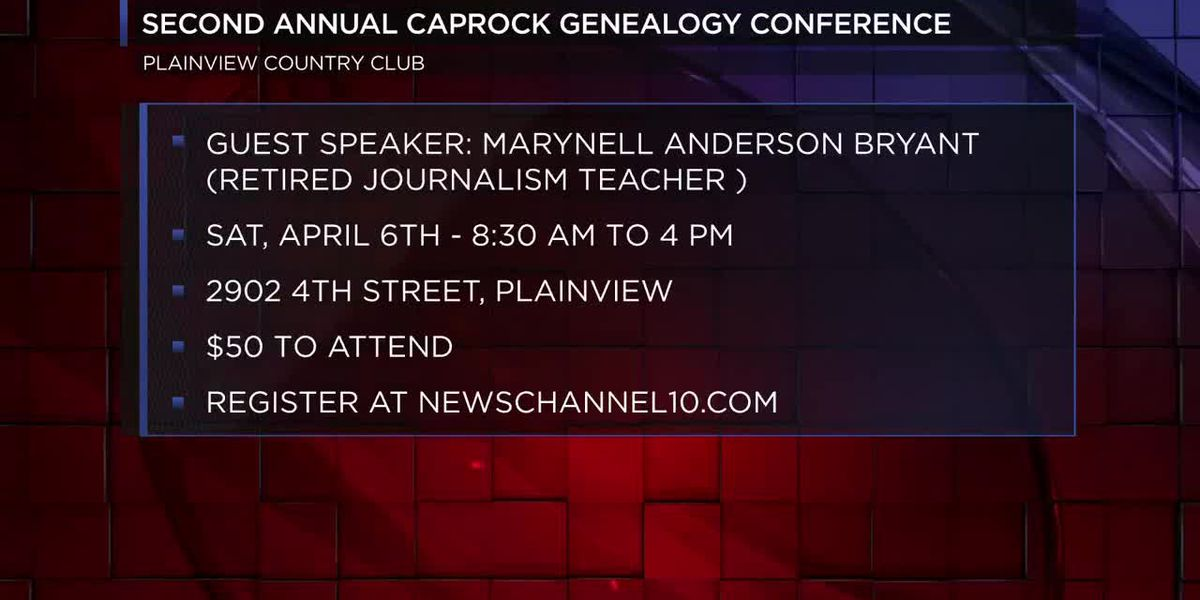 Registration open for Second Annual Caprock Genealogy Conference