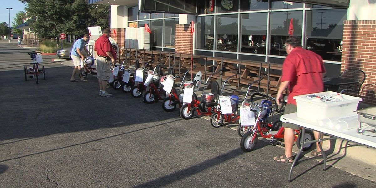 Local children with disabilities receive therapeutic tricycles