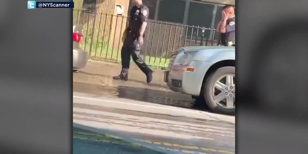 Police in New York looking for at least 3 men accused of throwing water on officers