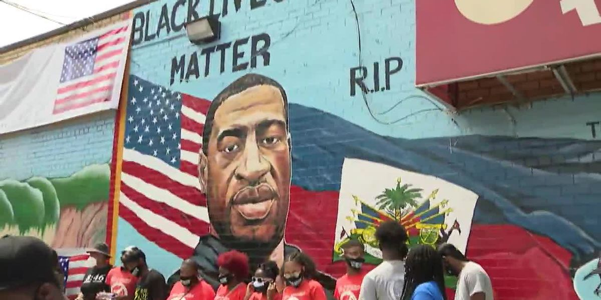 George Floyd mural unveiled in N.Y.
