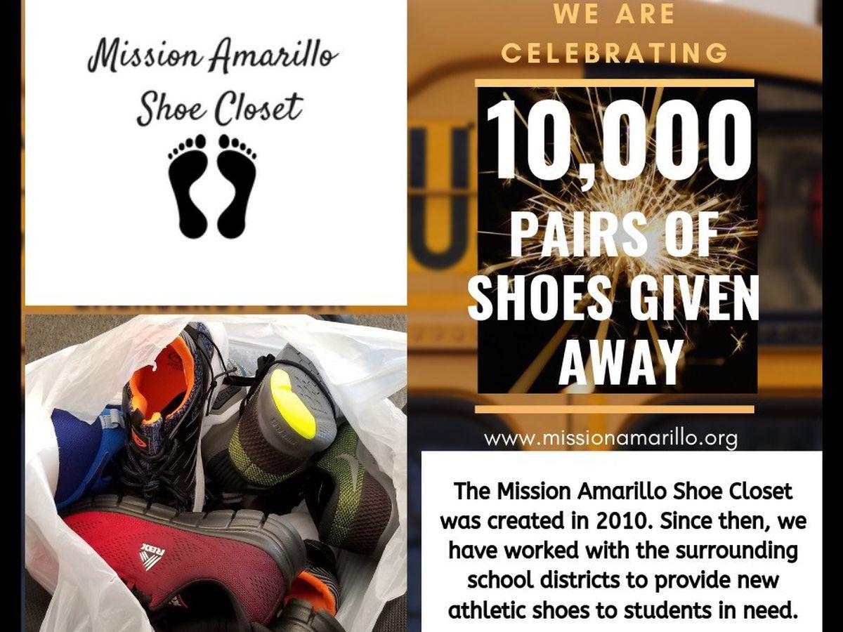 Mission Amarillo Shoe Closet celebrates giving away 10,000 pairs of shoes