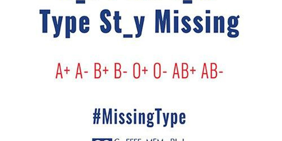 #MissingType blood donation awareness campaign