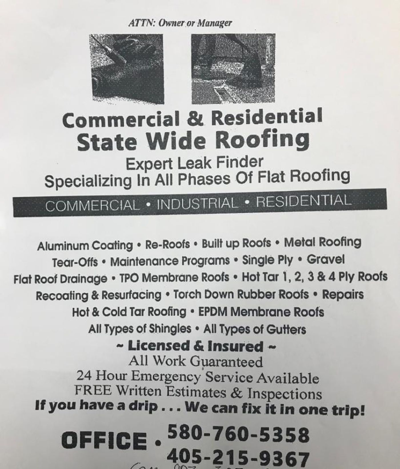 Texas County Officials Warn Of Roofing Scam