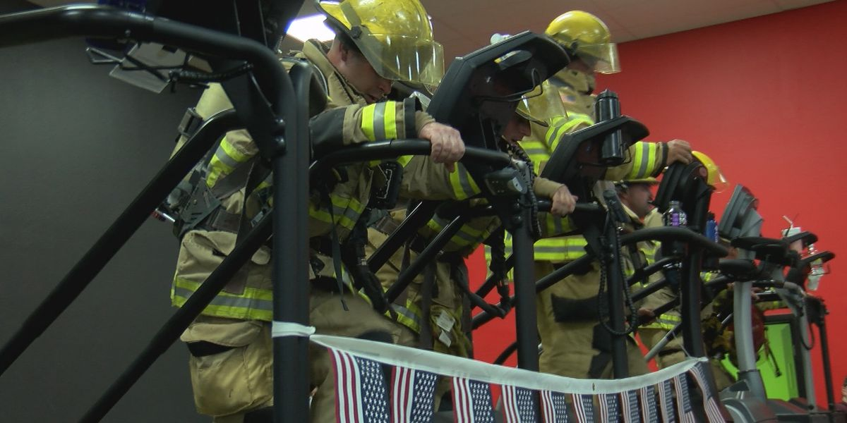 Amarillo firefighter members honor first responders who lost their lives in 9/11 by climbing 110 floors
