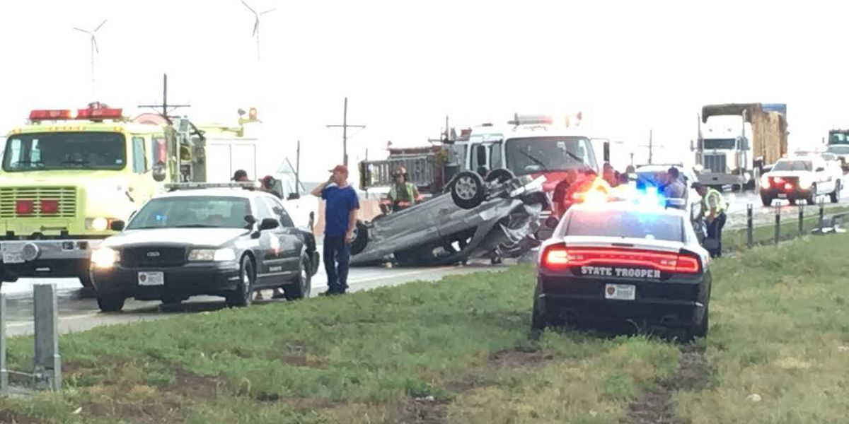 I-27 rollover sends one man to hospital