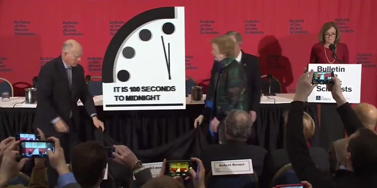 Doomsday Clock moves closer to midnight