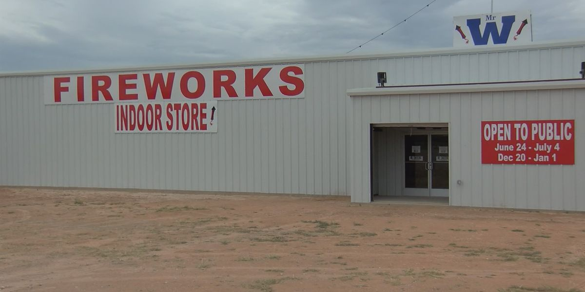 Local church fundraising for student ministry at rebuilt fireworks stand