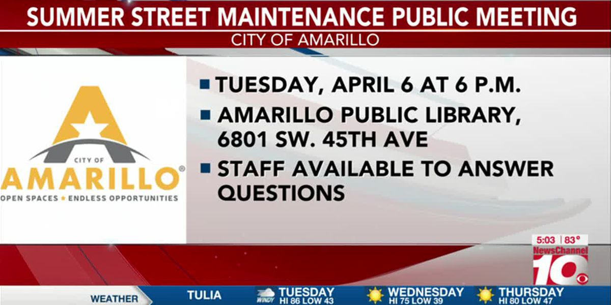 VIDEO: Summer Street Maintenance Program has set a public meeting date
