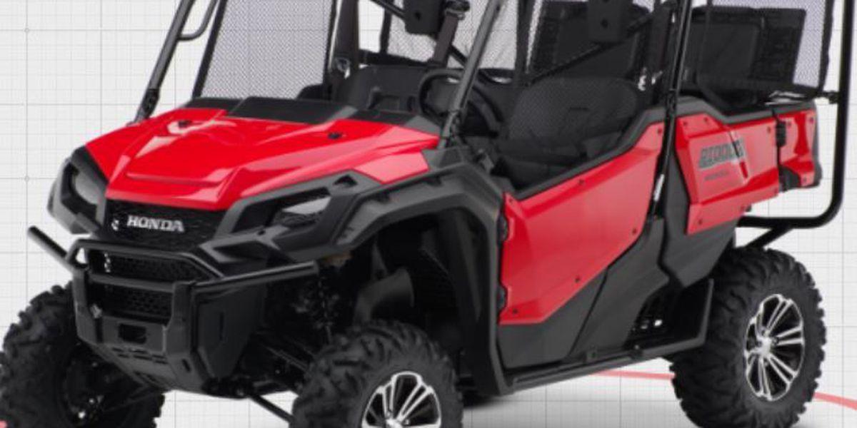 RECALL ALERT: Honda recalls recreational off-highway vehicles due to fire and burn hazard