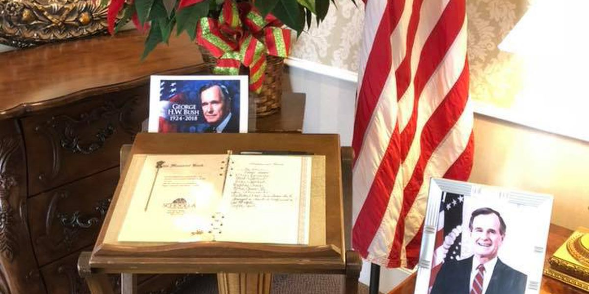 Amarillo funeral home sending guestbook to Bush family