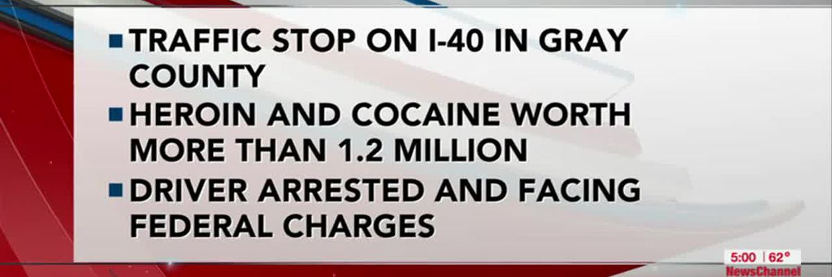 VIDEO: Criminal Complaint: More than $1.2 million worth of drugs found during traffic stop in Gray County