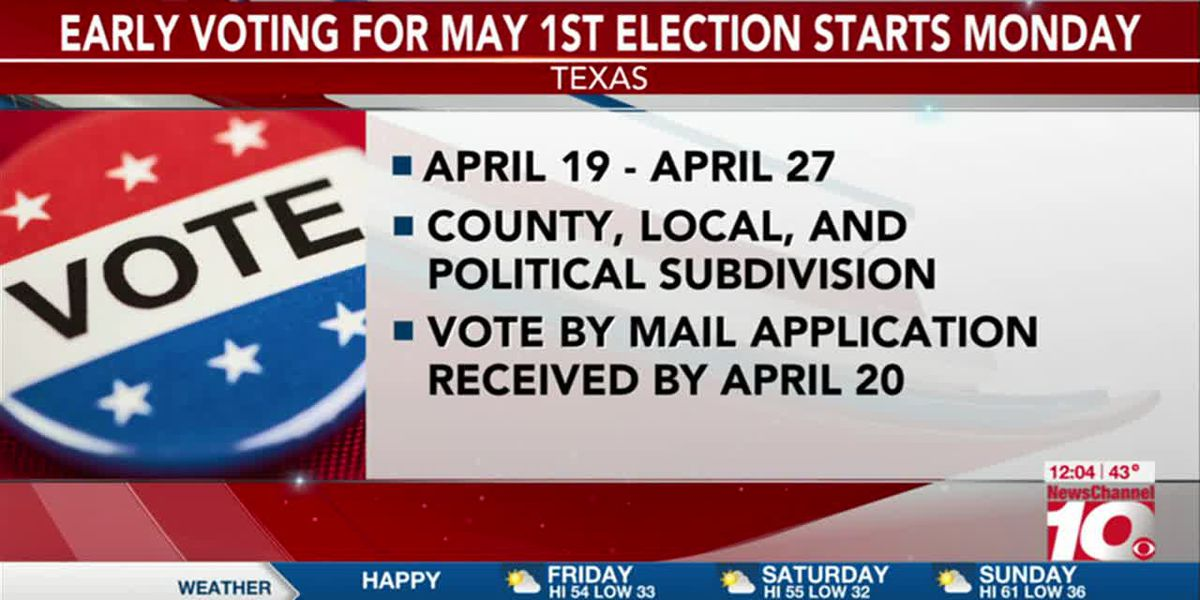 VIDEO: Early voting in Texas to start Monday